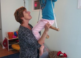 Swings and bars help children work on balance and play.